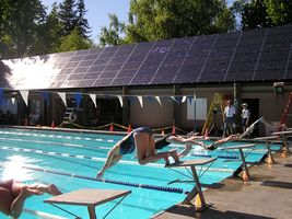Ives Pool Solar Works Installation