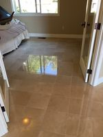 Crema Marfil Marble Floor after restoration
