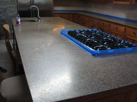 Granite island before re polishing