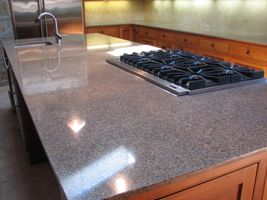 Granite island after re polishing