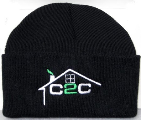Embroidered beanies for C2C Construction