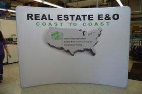 Real Care Auto Insurance tradeshow display
