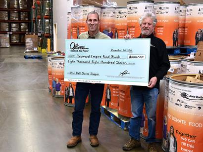 Oliver's Customers Achieve $8,807 for Redwood Empire Food Bank