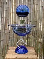 Blue and White Glass Sculpture