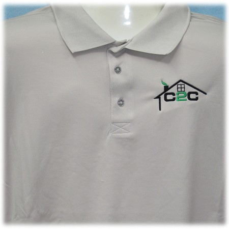 C2C Construction Embroidered Polo Shirt
