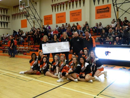 SRHS with their 2012 allocations check.