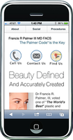 Mobile website for plastic surgeon
