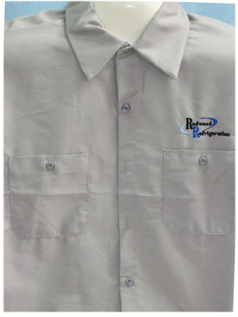 Embroidered Work Wear for Redwood Refrigeration -