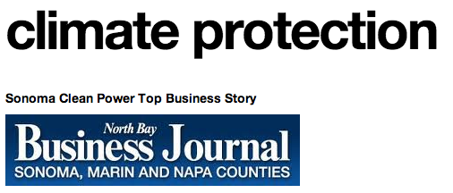 Sonoma Clean Power Top Story of 2013, says NBBJ