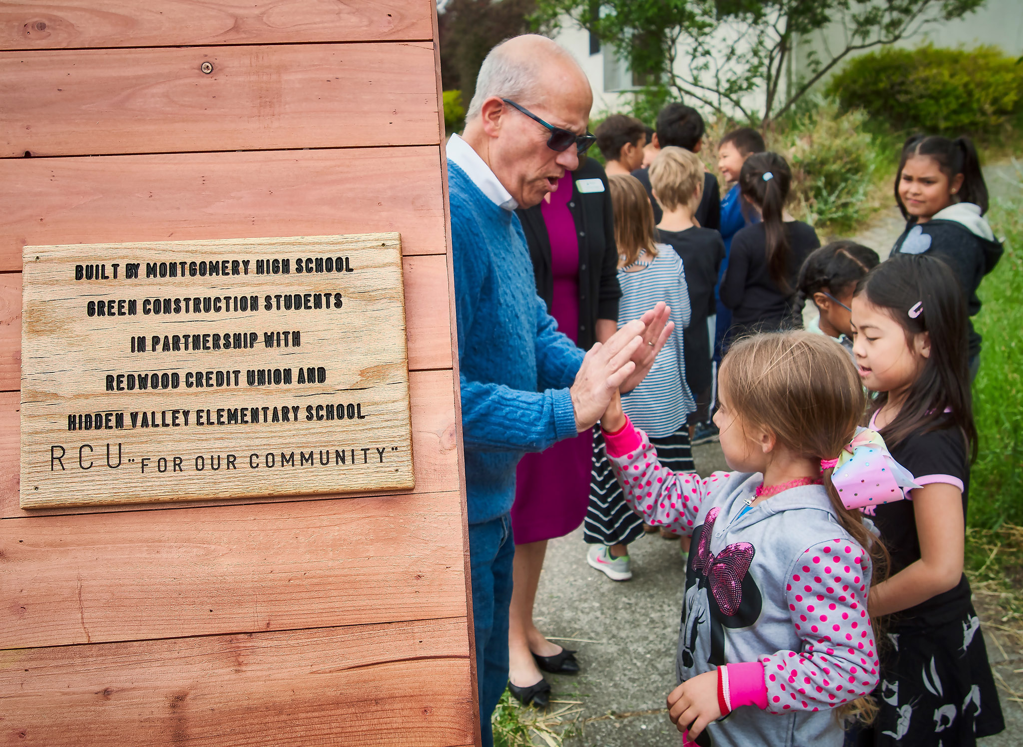 Redwood Credit Union Donates Little Free Library